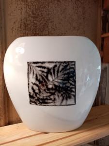 Grand vase  Feuillage noir 1 face
