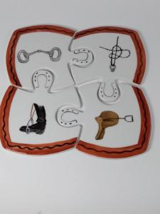 Dessous Plat puzzle Equitation
